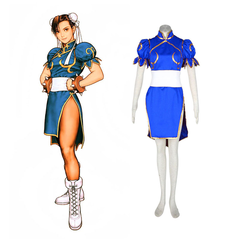 Street Fighter Chun-Li 1 Blau Cosplay Kostüme Germany