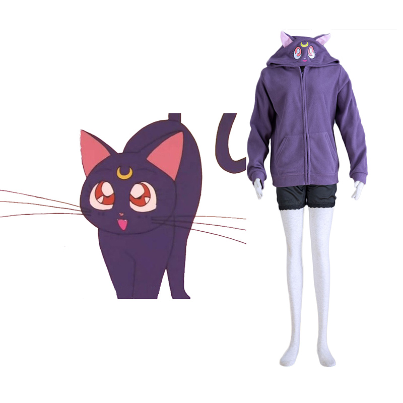 Sailor Moon Schwarz Cat Luna Cosplay Kostüme Germany