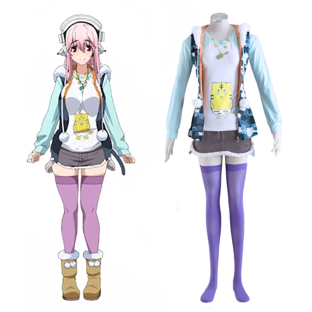 Soni-Ani:Super Sonico the Animation Super Sonico 1 Cosplay Kostüme Germany
