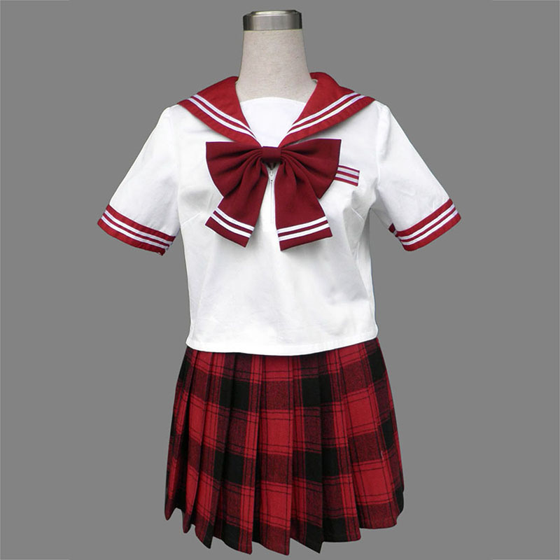 Sailor Uniformen 6 Rot Grid Cosplay Kostüme Germany
