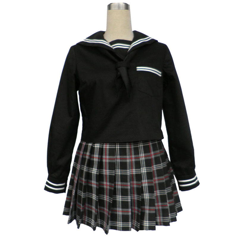 Sailor Uniformen 7 Rot Schwarz Grid Cosplay Kostüme Germany