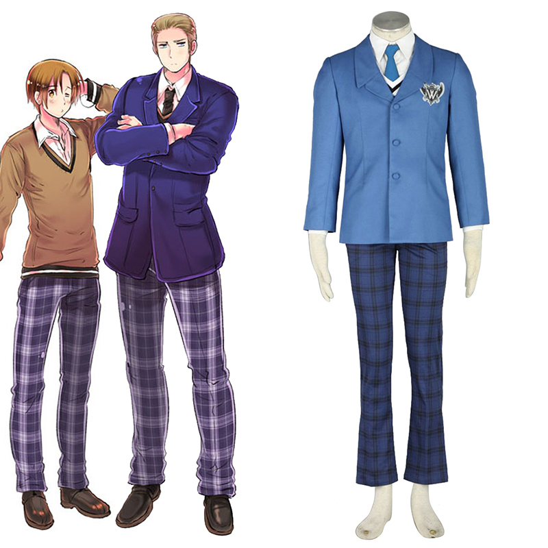 Axis Powers Hetalia Winter Male School Uniformen 1 Cosplay Kostüme Germany