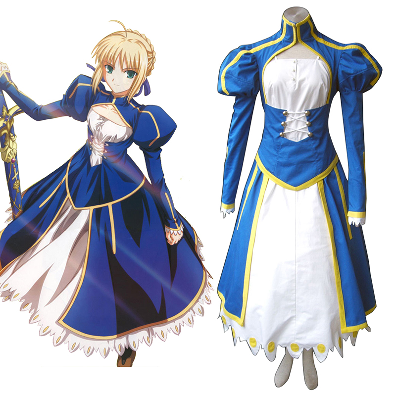 The Holy Grail War Saber 1 Blau Cosplay Kostüme Germany