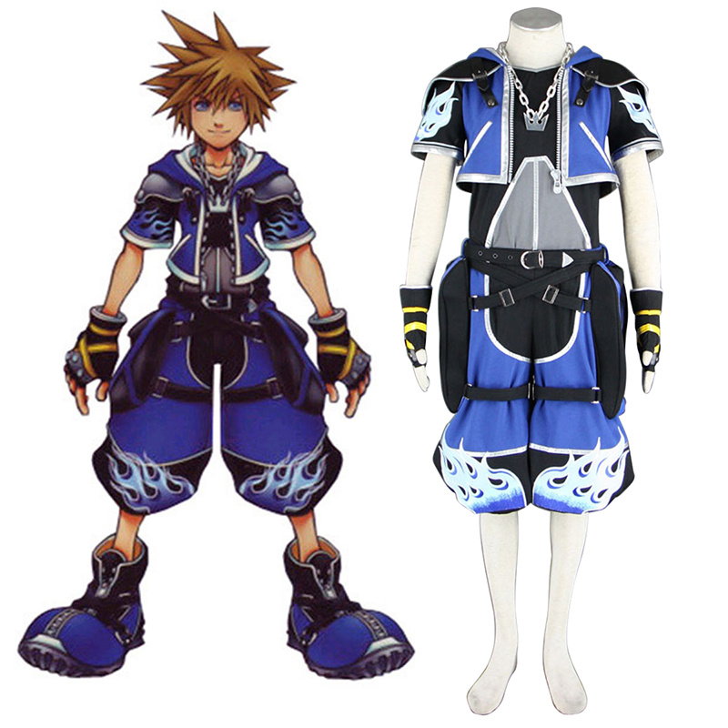 Kingdom Hearts Sora 2 Blau Cosplay Kostüme Germany
