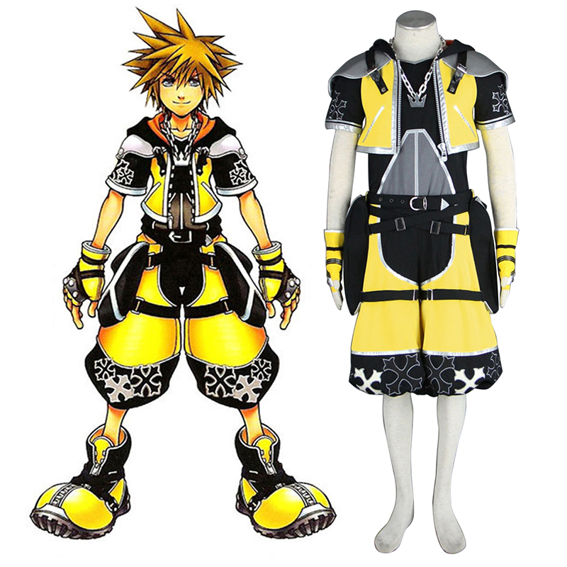 Kingdom Hearts Sora 3 Gelb Cosplay Kostüme Germany
