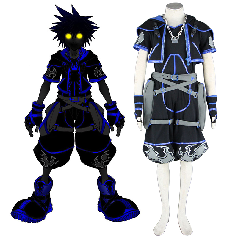 Kingdom Hearts Sora 4 Schwarz Cosplay Kostüme Germany