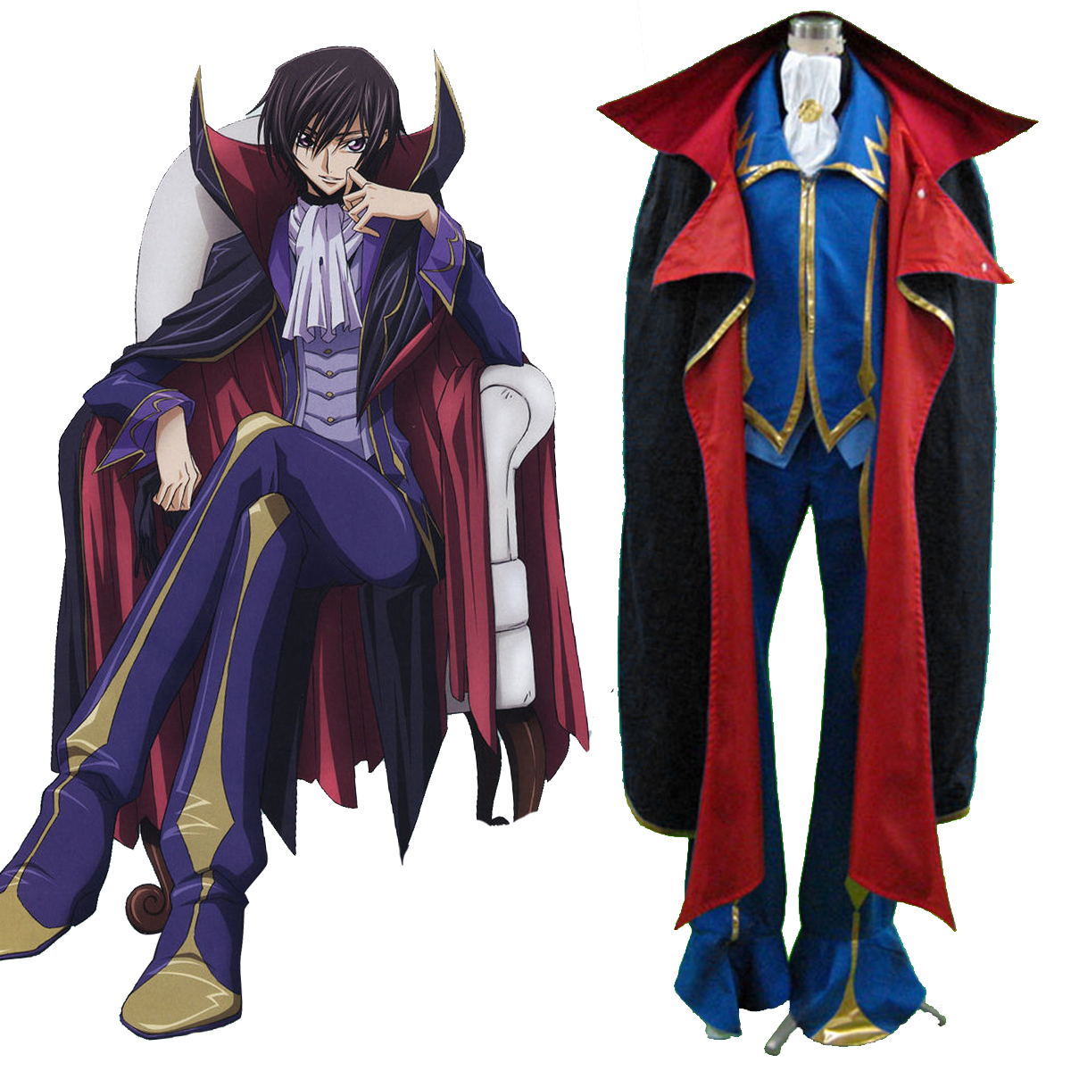 Code Geass Lelouch Lamperouge ZERO 2 Cosplay Kostüme Germany