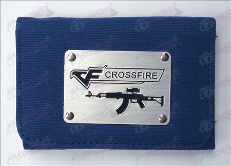 CrossFire Zubehör White Canvas Wallet (Blau)