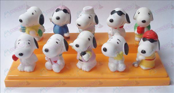 10 Snoopy Puppe Kunststoff Teich