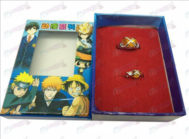 D Shakugan no Shana Paar Edelstein-Ringe (orange)