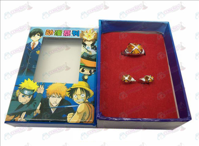 D Shakugan no Shana Edelstein-Ring + Ohrringe (großer Ring orange)