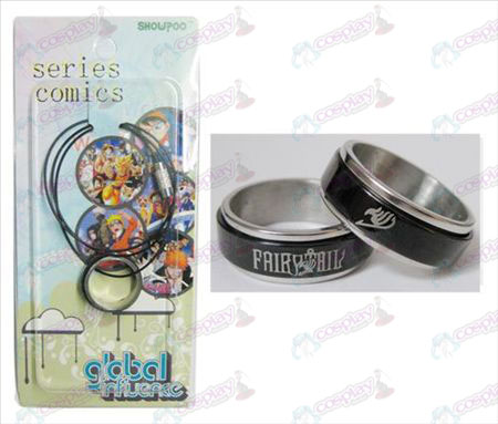 Fairy Tail Zubehör Black Steel Ring Halskette Transporter - Rope