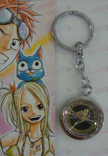 Black Steel Keychain Fairy Tail Zubehör Gold