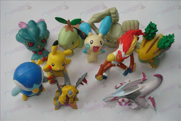 Genuine 10 Pokemon Zubehör Doll (7-9cm)