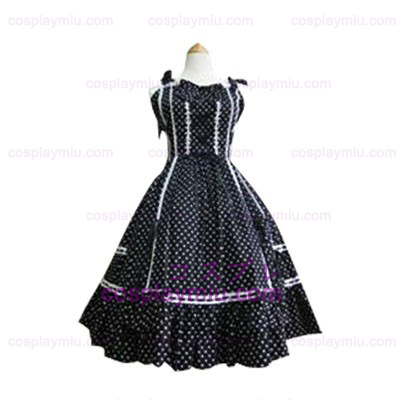 White Polka Dot Lolita Cosplay Kleid