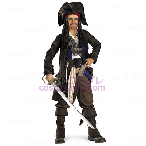Fluch der Karibik - Captain Jack Sparrow Prestige Child Kostüme