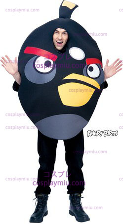 Angry Birds Schwarz One Size Adult