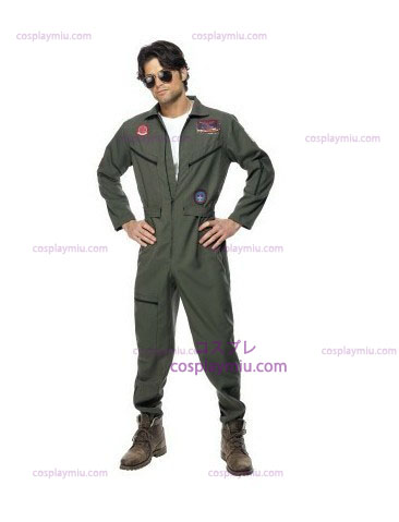 Top Gun Kostüme mit Green Jumpsuit