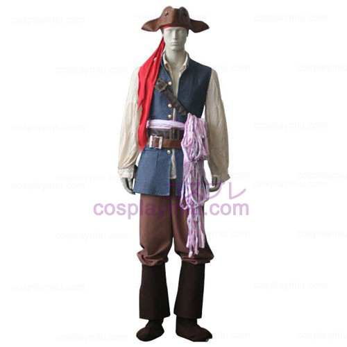 Pirates of the Caribbean Captain Jack Sparrow Cosplay Kostüme
