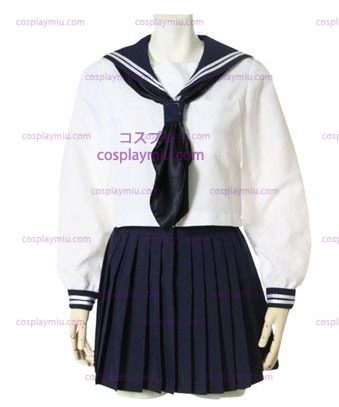 Deep Blue Long Sleeves Schuluniform