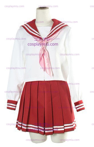 Halloween White And Red Long Sleeves Sailor Schuluniform