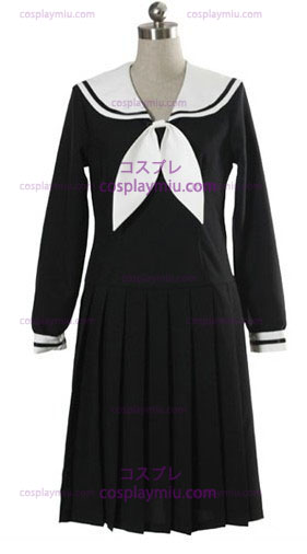 Black Long Sleeves Kleid Schuluniform