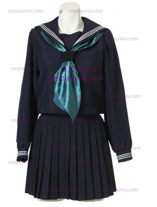 Long Sleeves Sailor Schuluniform Cosplay Kostüme