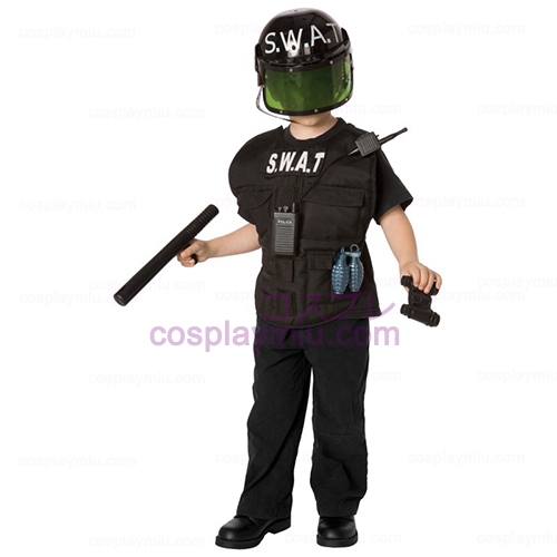 S.W.A.T. Offizier Child Kostüme Kit