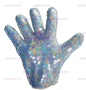 Glove Weiß Sequin