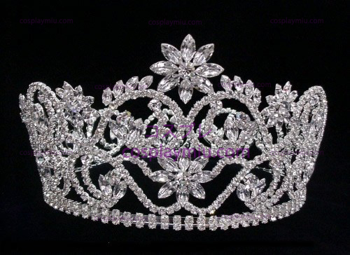 Silver-Tone Strass Crown-CT007