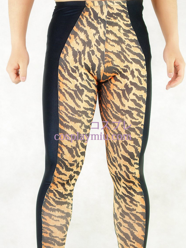 Tiger Skin And Black Style Lycra Spandex Herrenhosen