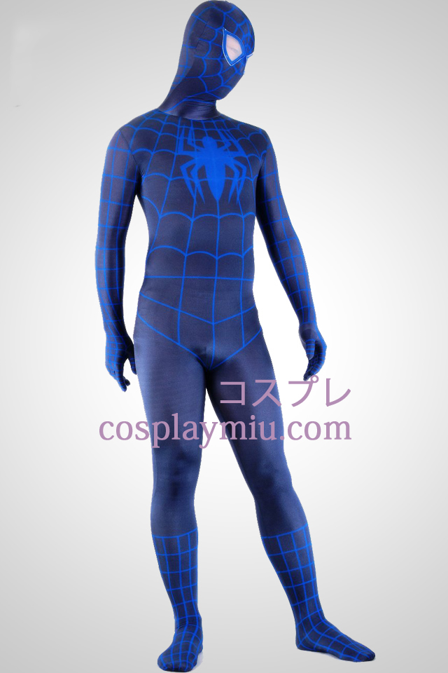 Black And Blue Spiderman Superheld Zentai Anzug