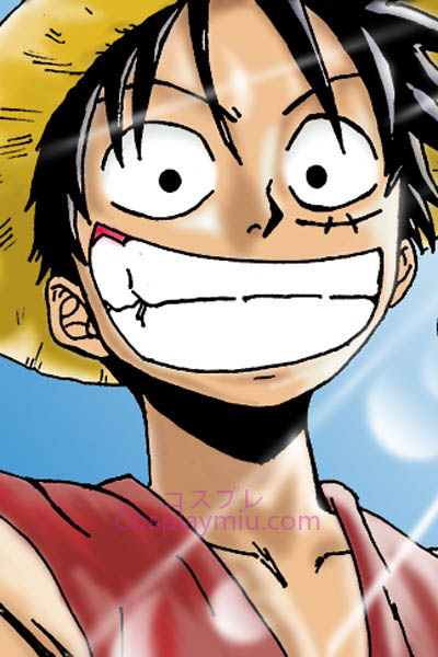 One Piece Monkey D. Ruffy Kurze Cosplay Perücke